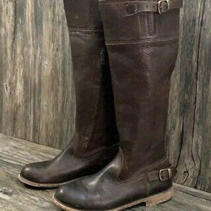 Vintage Shoe Company Ivy Engineer Boots Leather